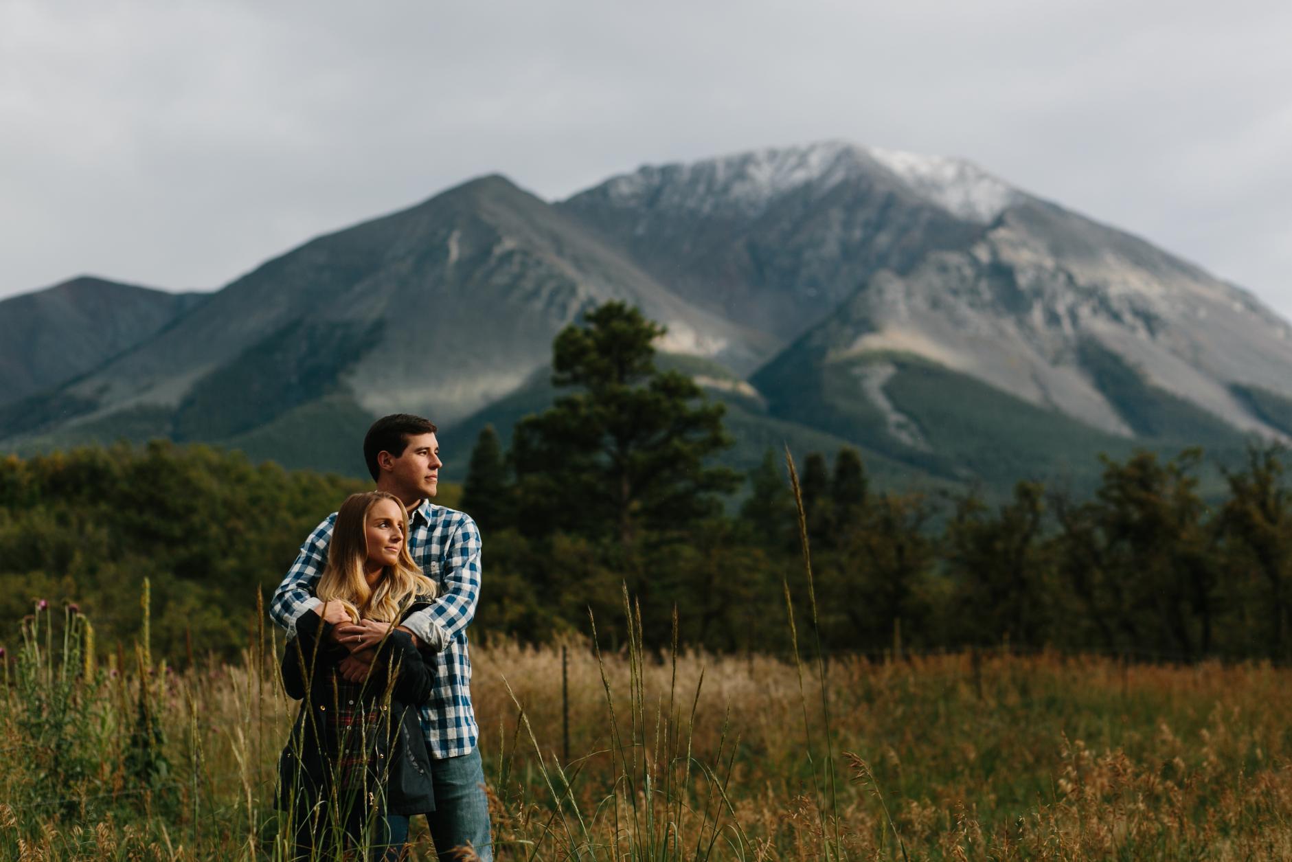 destination adventure engagement session in Colorado