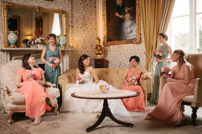 bride bridal party bridal suite