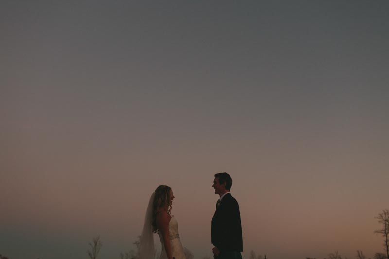sunset wedding photo bride and groom art
