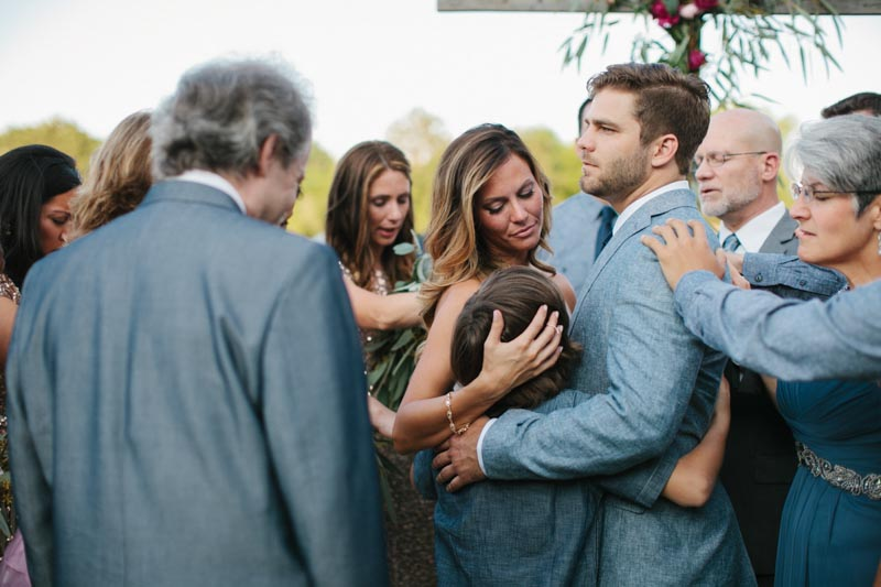 blended family wedding photo emotional