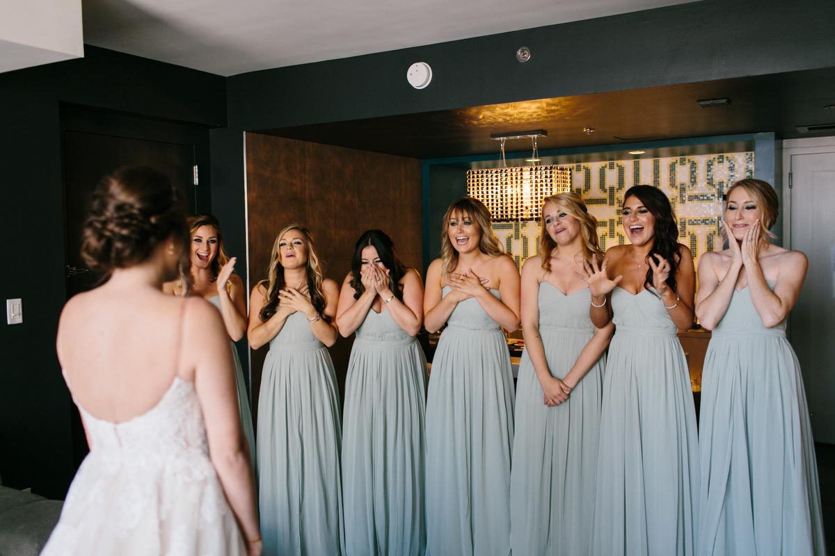 bridesmaid first look reactions bridesmaid dress ideas