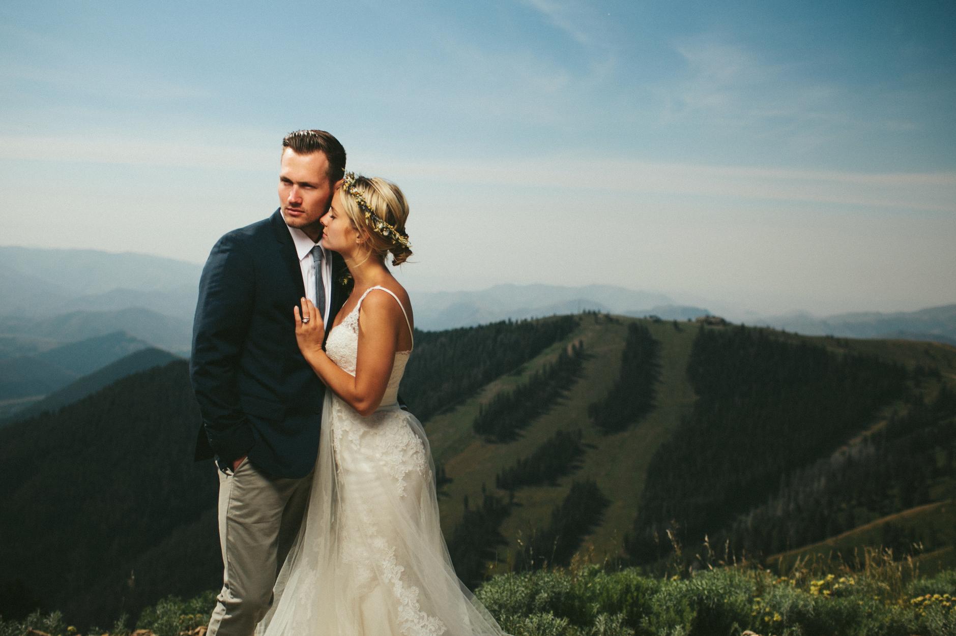destination wedding photos at Sun Valley Idaho