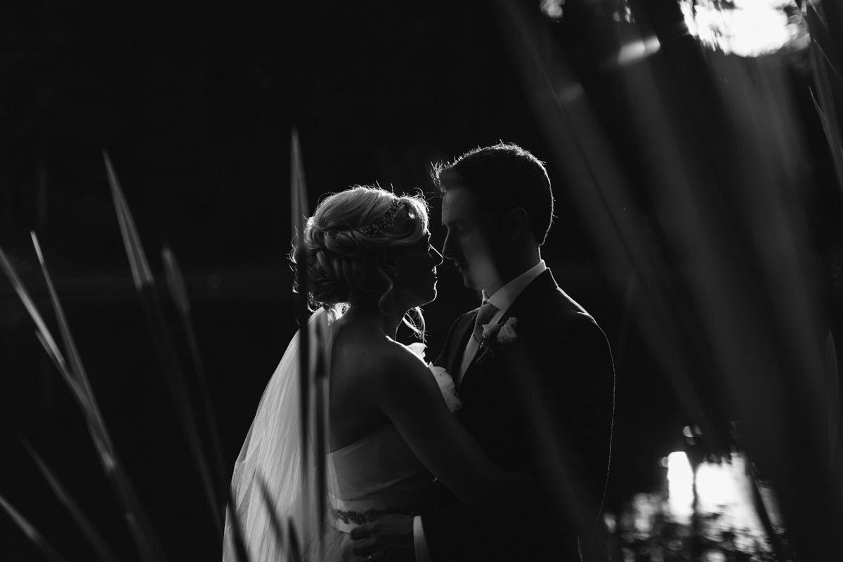 black and white wedding photo romantic