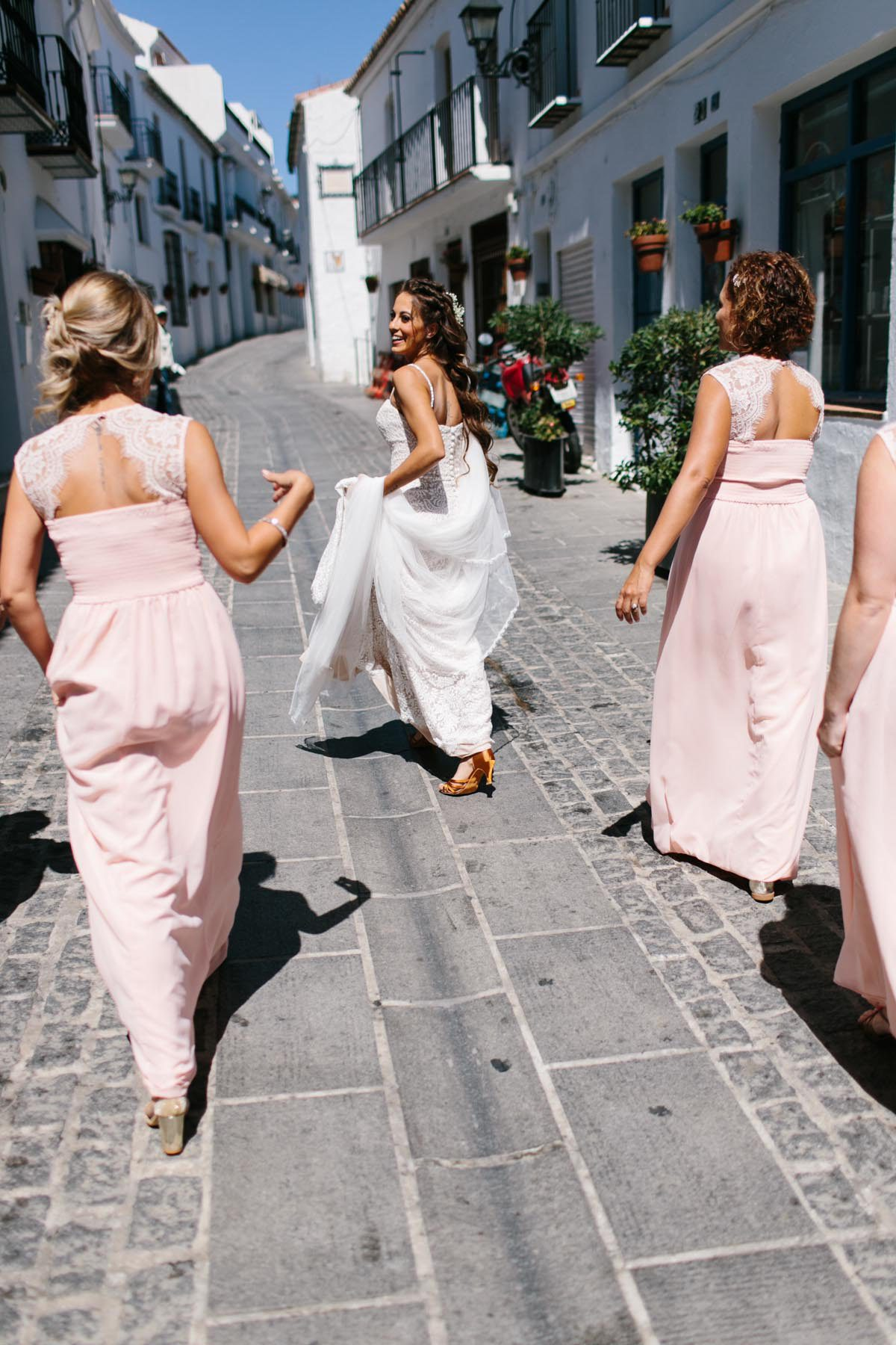 bride bridesmaids destination Spain wedding
