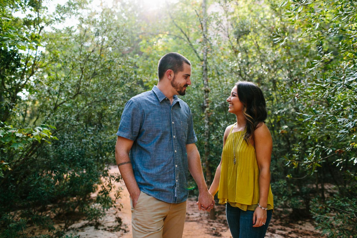 mallory and logan engagement session providence canyon -2
