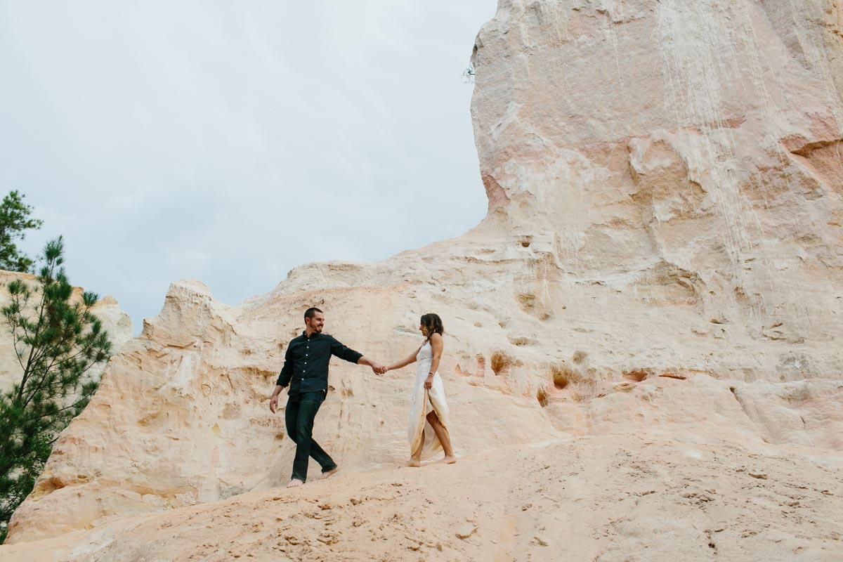 mallory and logan engagement session providence canyon -24