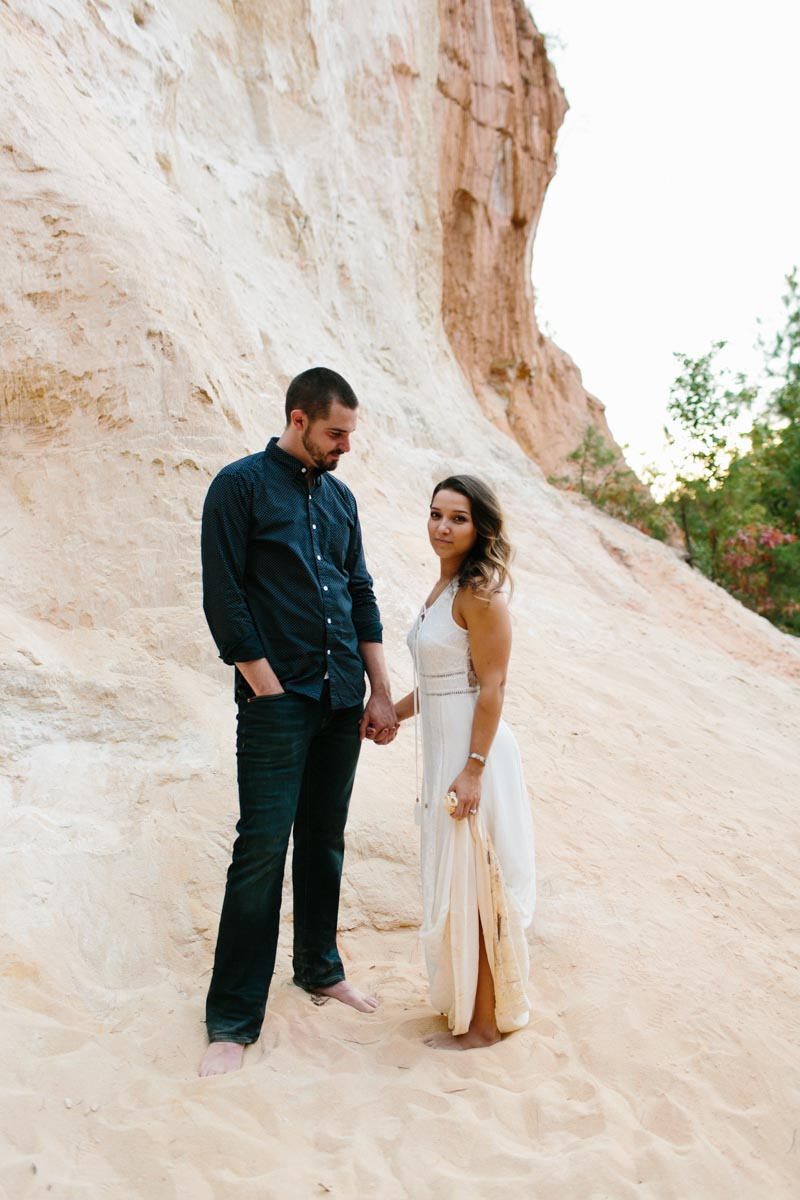 mallory and logan engagement session providence canyon -25
