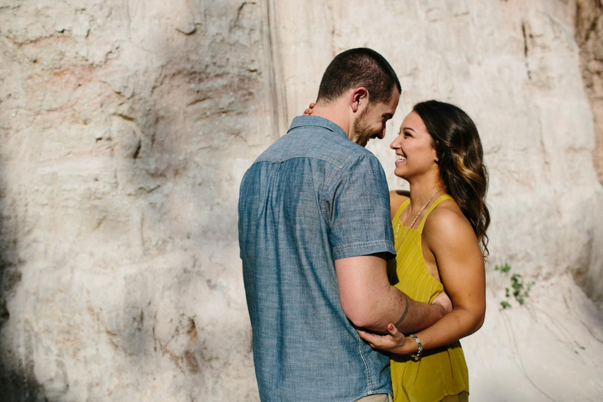 mallory and logan engagement session providence canyon -4