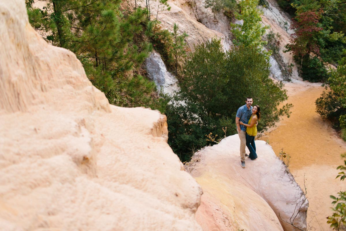 mallory and logan engagement session providence canyon -6