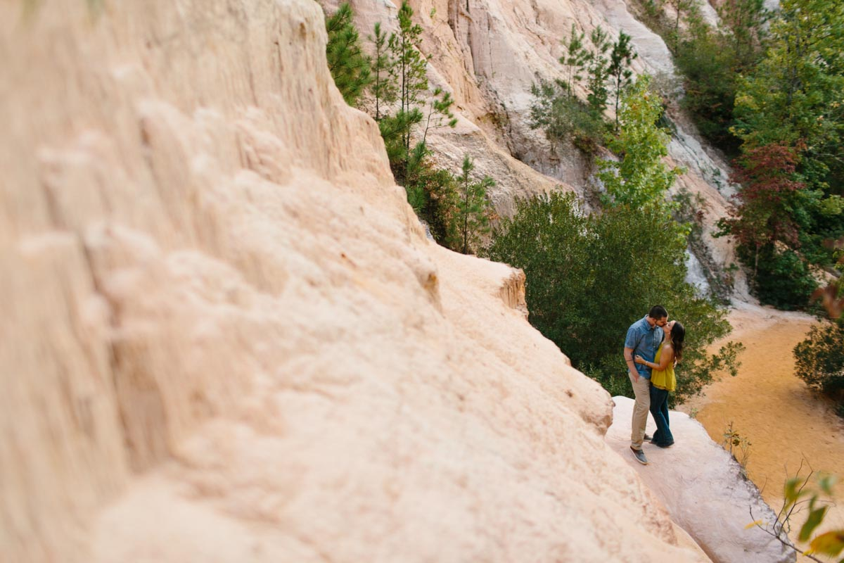 mallory and logan engagement session providence canyon -7
