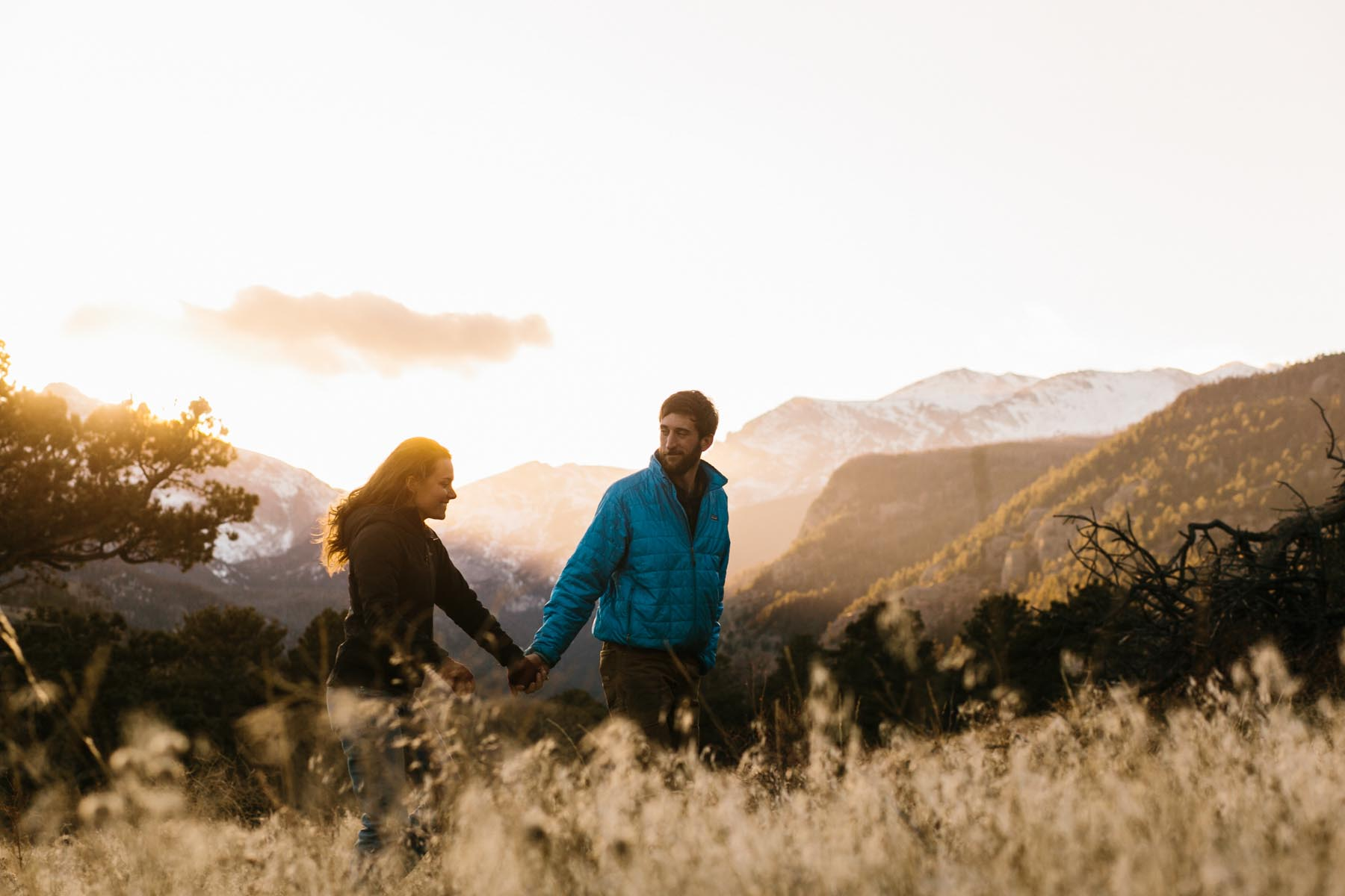 rocky mountain engagement adventure session