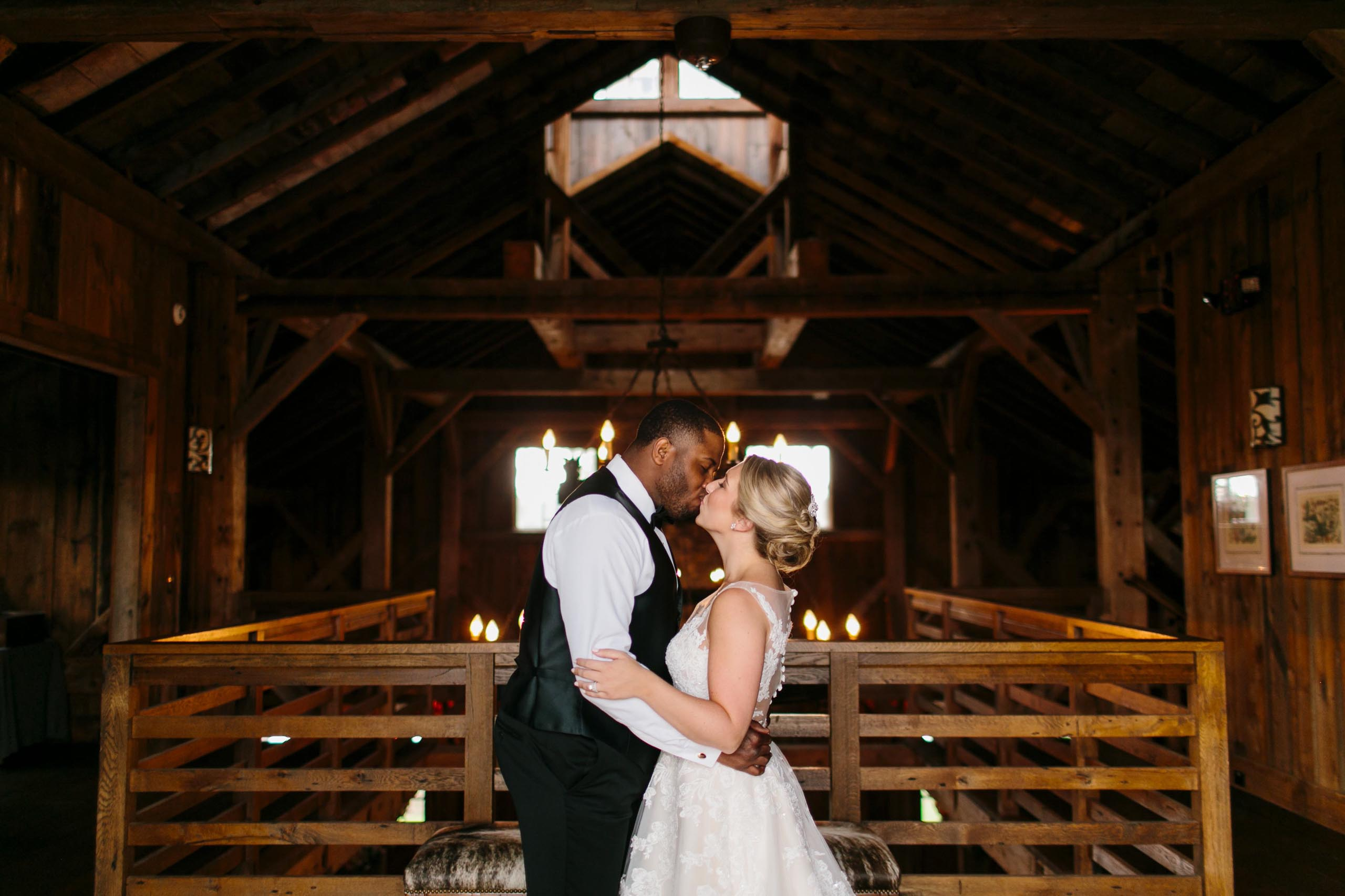wedding couple at Sandy Creek Barn Reynolds Plantation