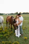 whimsical engagement photos with horses