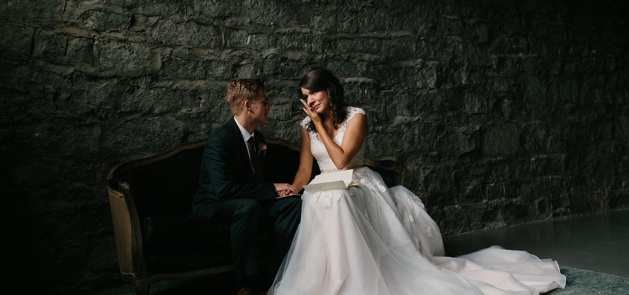 intimate first look bride and groom wedding photos